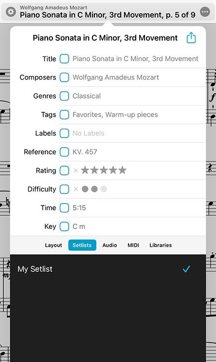 forScore | Metadata